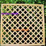 решетка для сада деревянная