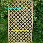 садовая решетка деревянная, решетка для сада