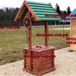 колодец для дачи деревянный